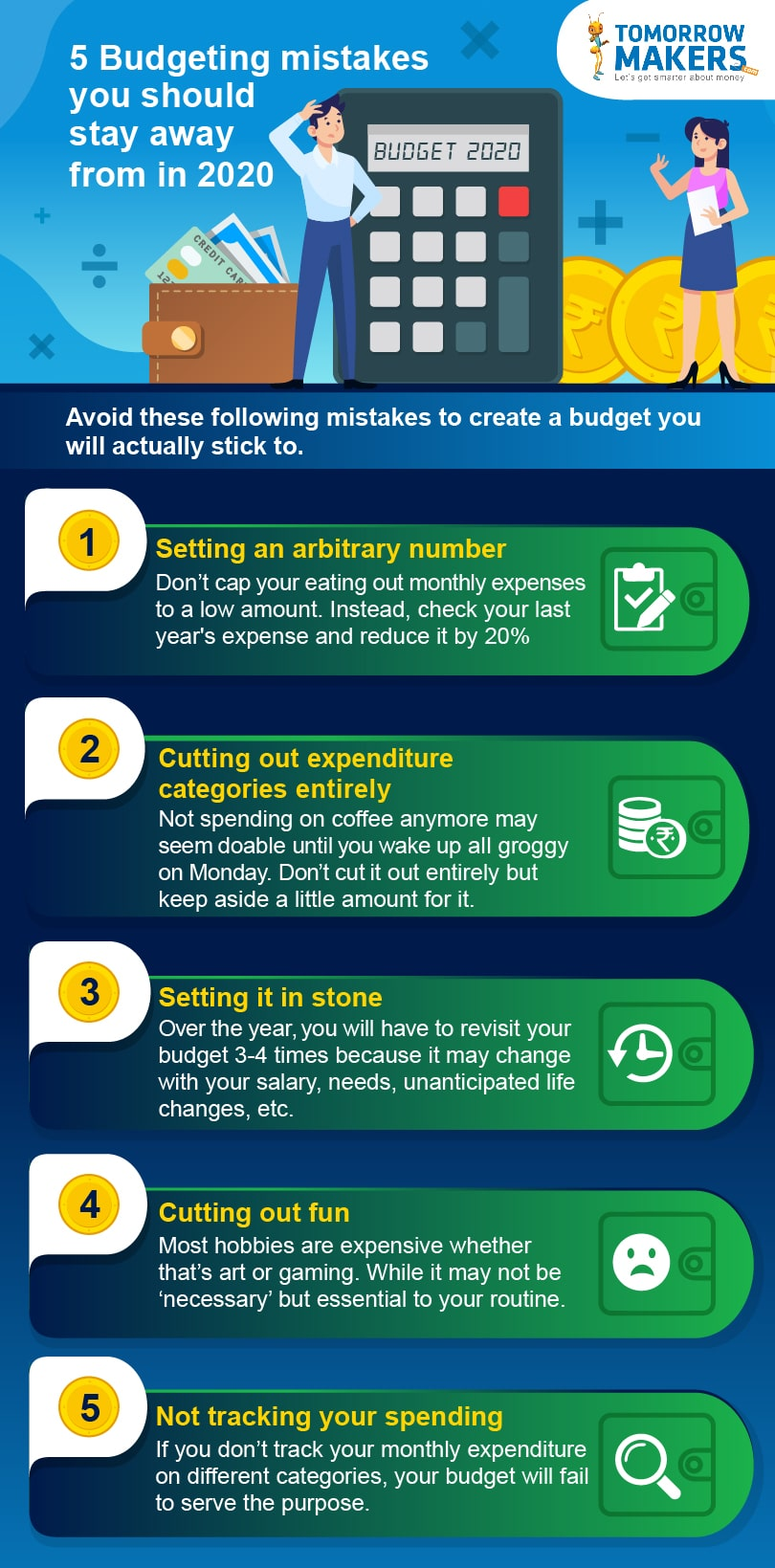 5 Budgeting mistakes you should stay away from in 2020