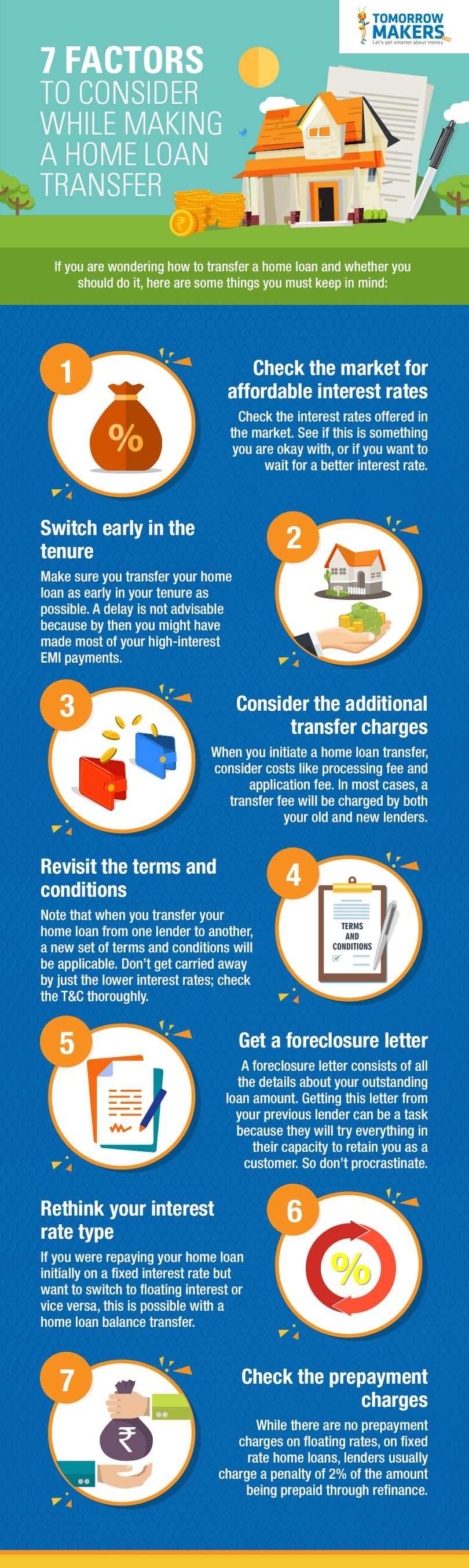 7 Factors to consider while making a home loan transfer