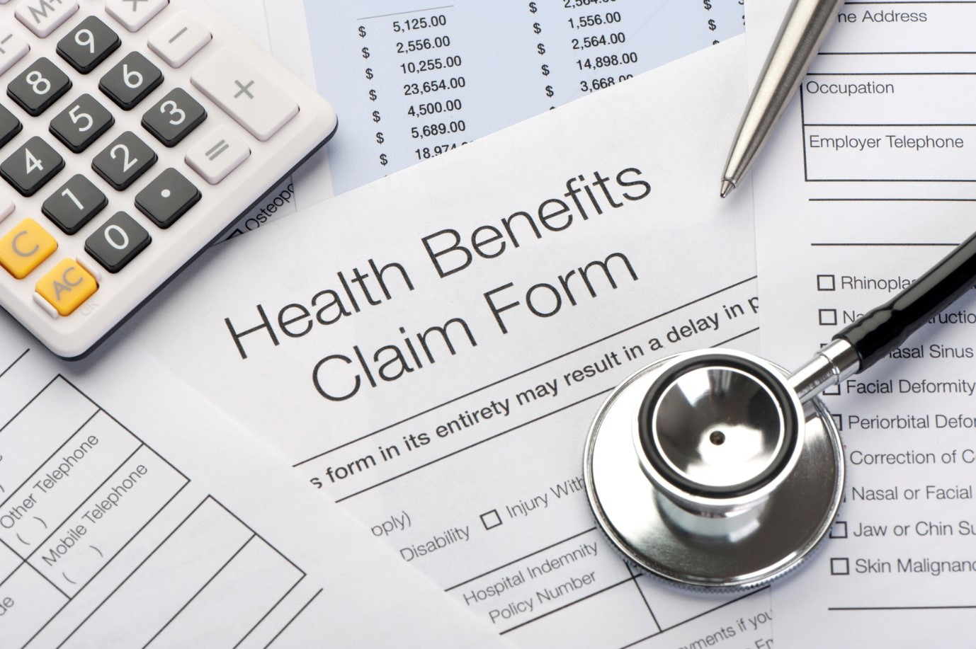 health insurance claims form