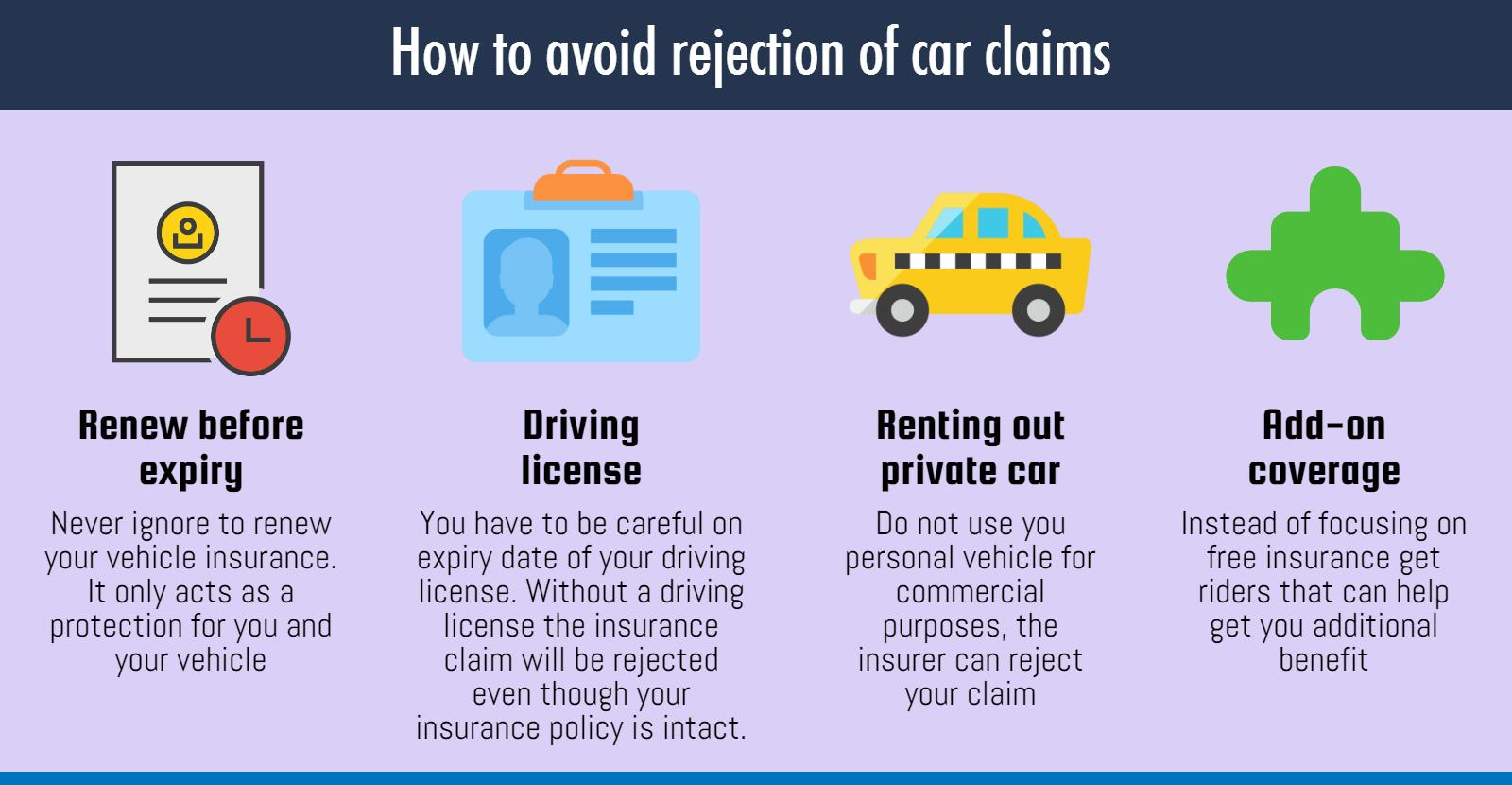 5 reasons your car claim gets rejected