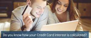 How is credit card interest calculated?