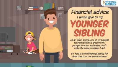 Financial advice I would give to my younger sibling infographic