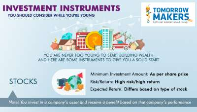 Investment instruments you should consider while you are young